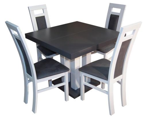Do Kuchni Stół Kwadratowy 90x90 225 Z 4 Krzesłami 7434819778