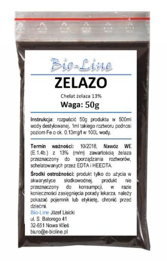 Chelat Fe żelaza 13 % HEEDTA - ŻELAZO 50g
