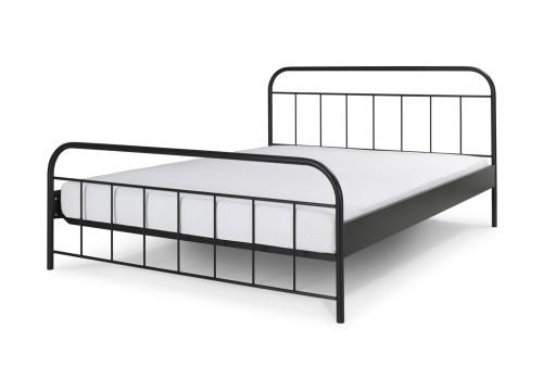 Avos łóżko Metalowe Retro Vintage Czarne 140x200