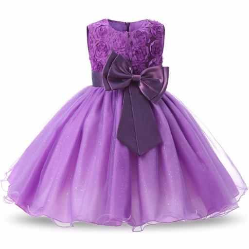 ea404552 ŚLICZNA Wizytowa Sukienka 128-134 Wesele Urodziny