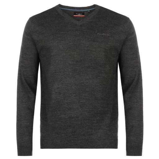 Sweter Męski Pierre Cardin modny XXXL 3XL serek