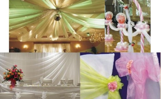 ORGANZA organtyna tiul dekoracja na ślub wesele
