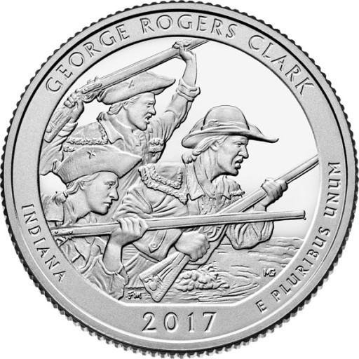 USA 3 x 25 c Park George R. Clark 2017 nr 40 P+D+S