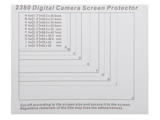 Folia ochronna utwardzana na wyświetlacz LCD