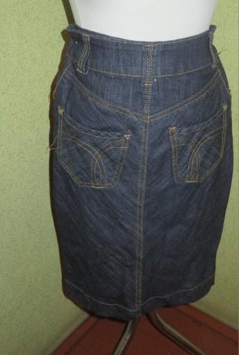 Blogerska Spódnica jeansowa ołówkowa r36 S