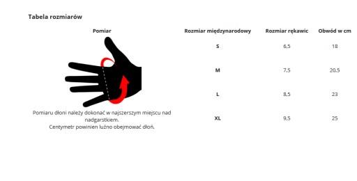 PODGRZEWANE rękawiczki (rozmiar S/6,5)