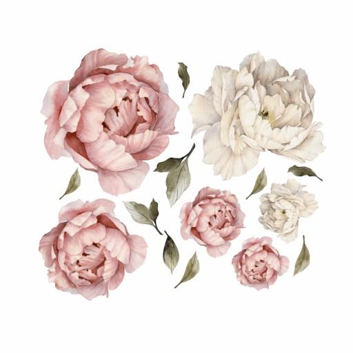 Piwonie Kwiaty Naklejki Na Sciane Komplet 7386297406 Allegro Pl