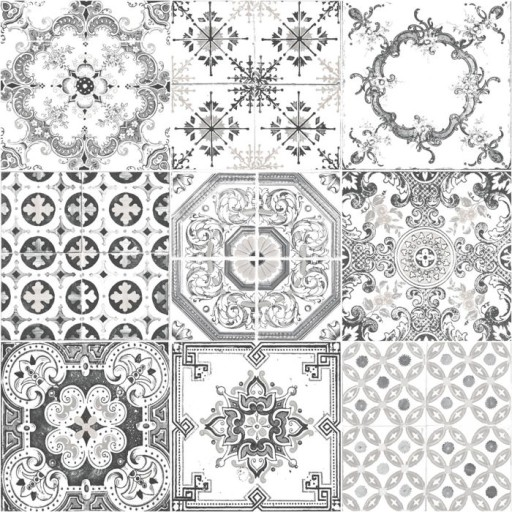 Tapeta Wzór Retro Mozaika Kafelki Płytki Ugepa 6612545073 Allegropl