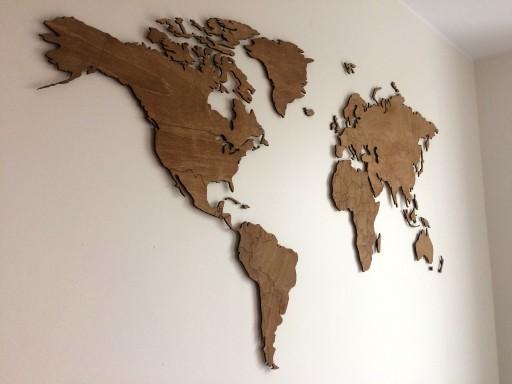 Mapa Swiata 3d Dekoracja Na Sciane Drewno Design 6793978523 Allegro Pl