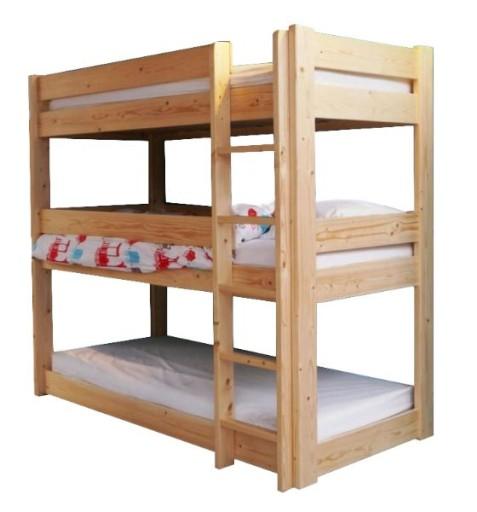 łóżko Piętrowe Dla Dzieci 3 Osobowe Materace190x80