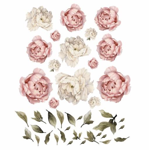 Piwonie Kwiaty Naklejki Na Sciane Komplet Xl 7386284107 Allegro Pl