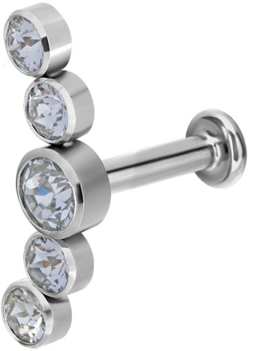 TYTAN labret 1,2x6 cluster one side M03 WH