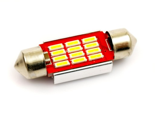 31 mm LED C5W 12x 4014 zimna C10W CANBUS CAN BUS