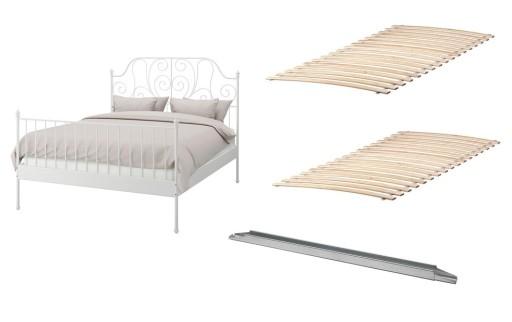 Ikea Biała Rama łóżka Leirvik łóżko 160x200stelaż