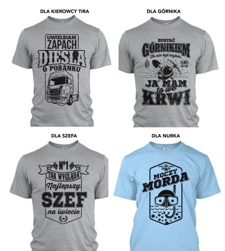 koszulka dla WĘDKARZA imię - Prezent KOLORY roz XL 9581177513 Odzież Męska T-shirty TD IUAPTD-9