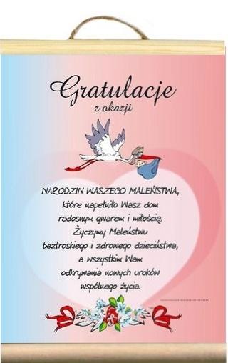 Dyplom Zyczenia Gratulacje Narodziny Dziecka Bobo 7014503006 Allegro Pl