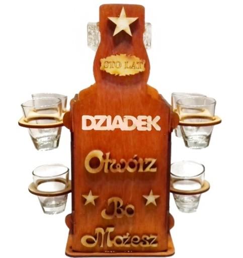 Kieliszki Stojak Butelka Prezent Dziadka Urodziny 7075340023 Allegro Pl