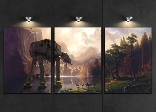 3 X Obraz 40x90cm Star Wars At At Battlefront 2 7589122631 Allegropl