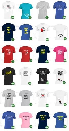 koszulka real men make twins tata bliźniakÓw wzory 7488229349 Odzież Męska T-shirty LM NRGKLM-8