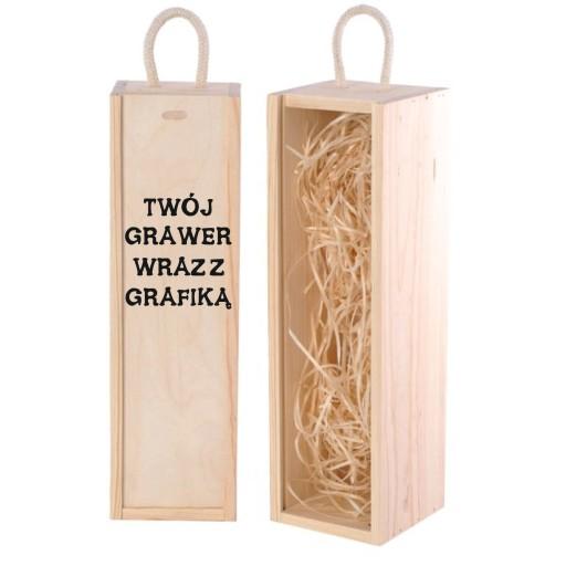 Skrzynka na wino + GRAWER! prezent, święta, ślub