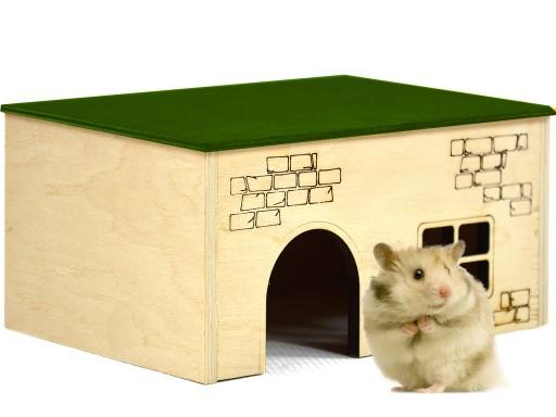 Drewniany Domek Klatka Dla Chomika Myszki Gryzonia 7391342188 Allegro Pl