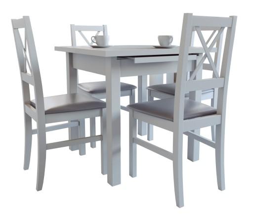 zestaw mebli do kuchni/salonu stół i krzesła