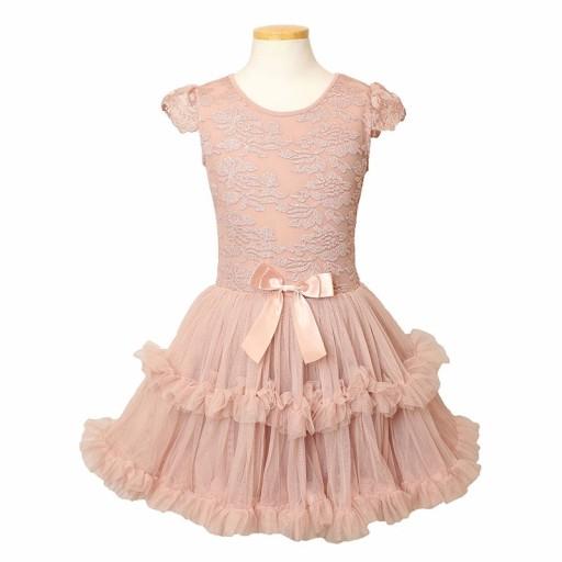 596a94411c sukienka NA ŚWIĘTA urodziny WESELE SK1015 3-4LATA 7632944738 ...