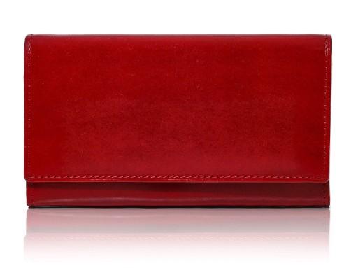 17519b3868dab Portfel damski skórzany czerwony HANDMADE Belveder 7655556312 - Allegro.pl