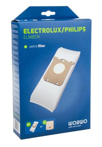 WORKI DO ODKURZACZA ELECTROLUX PHILIPS E201B 16SZT