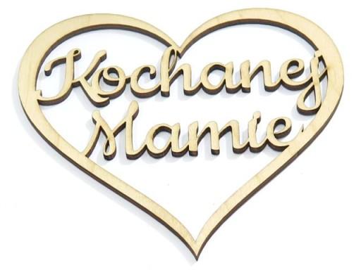 DECOUPAGE SERCE ZAWIESZKA 'Kochanej Mamie' DD79