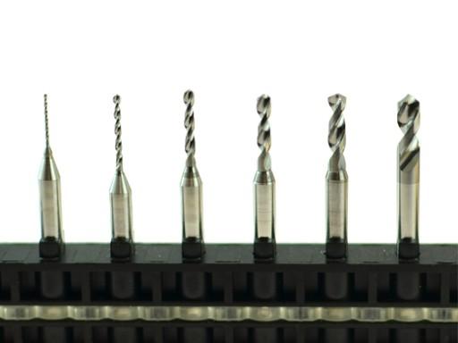 Wiertło Wiertła VHM z węglika 0,2-3,175mm PCB CNC