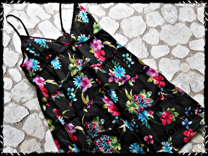 NEW LOOK_delikatna_kwiatowy wzÓr _40-42_*6L* 9398554364 Odzież Damska Bluzki ZX MPYJZX-3