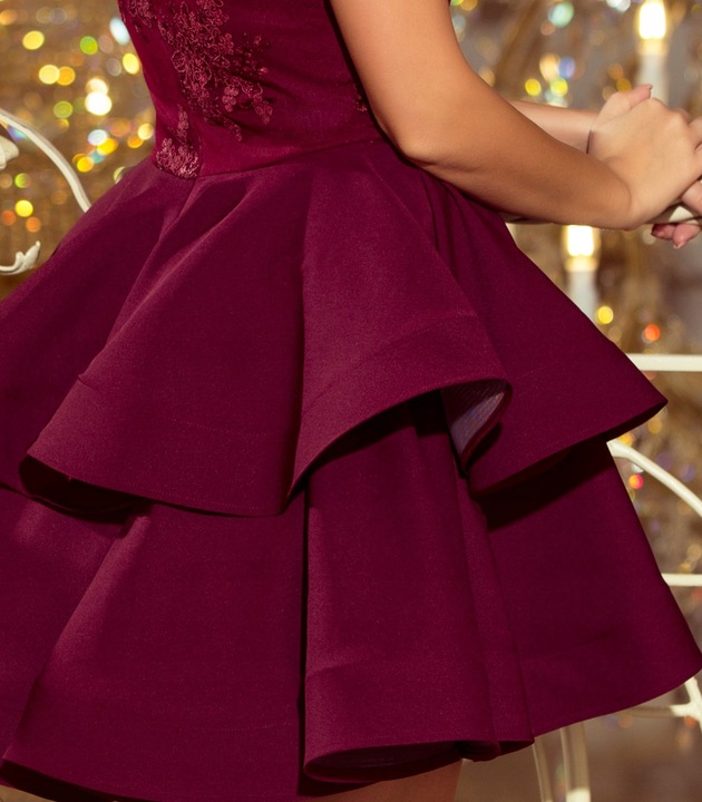 WIECZOROWA Sukienka BALOWA NA STUDNIÓWKĘ 200-8 XS 9592530091 Odzież Damska Sukienki wieczorowe YM NZXZYM-3